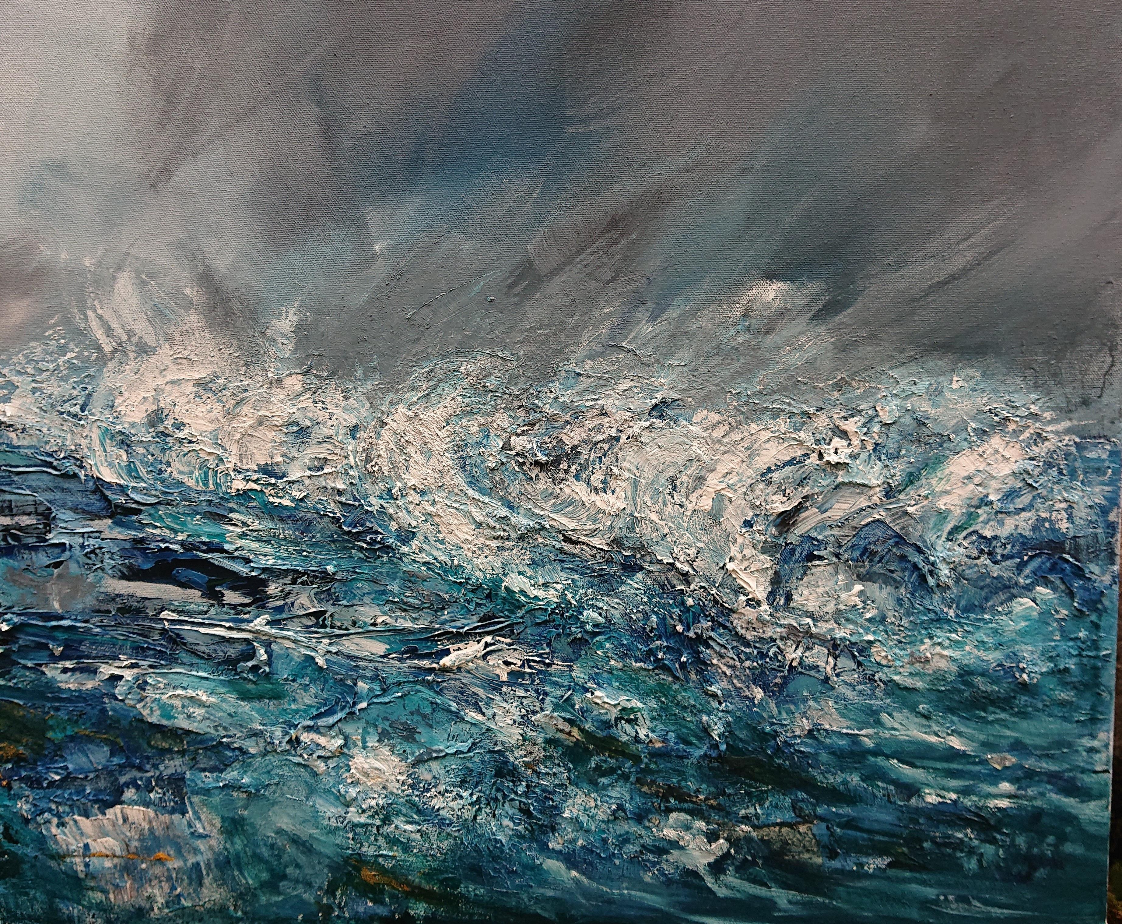 winter storm hosta, oil on canvas, 70 x 90 cm