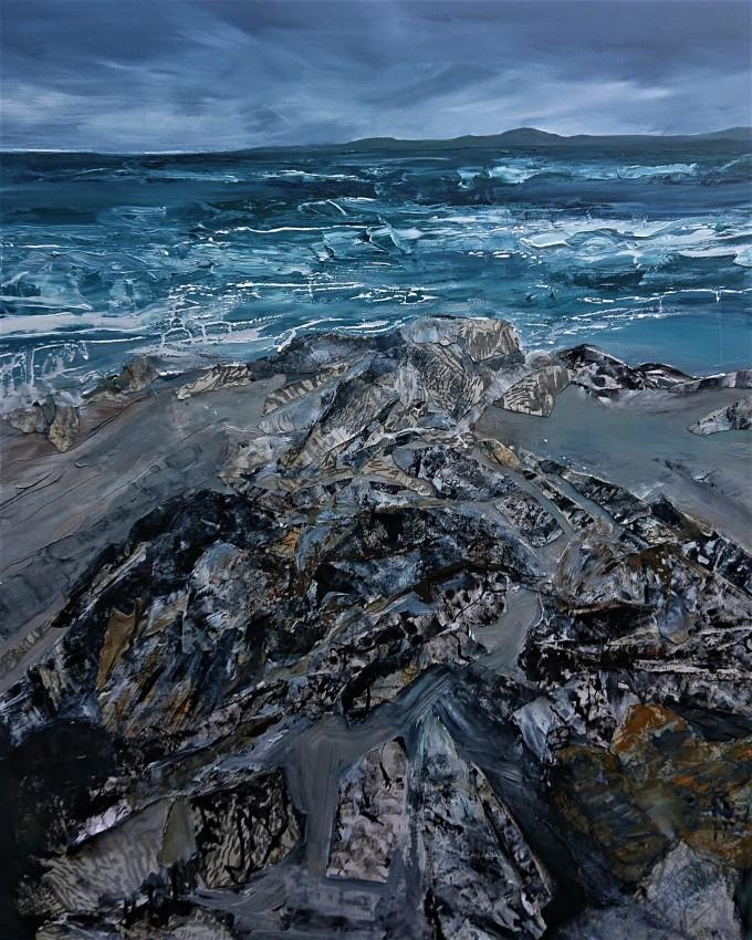 Rocky Shorline Balranald, oil on canvas, 30 x 40 inch.jpg